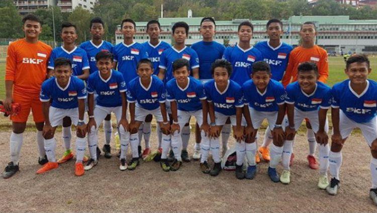 Tim LKG SKF Indonesia yang bermain di Gothia Cup U-15 2018 Swedia. Copyright: © Instagram/@timnasu19.ina