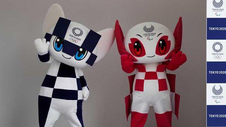 Miraitowa dan Someity, maskot Olimpiade dan Paralimpiade Tokyo 2020 di Tokyo, Jepang(22/07/18). Copyright: © Reuters