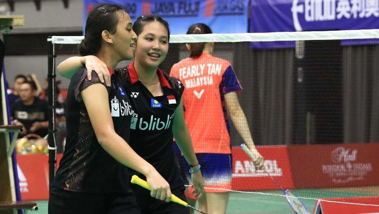 Febriana Dwipuji Kusuma/Ribka Sugiarto harus akui kekalahan di partai final Malaysia International Series 2019. Copyright: © Humas PBSI