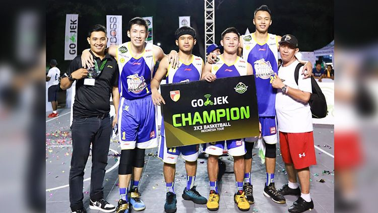 Satria Muda Pertamina juara 3x3 basket Indonesia. Copyright: © smpertamina