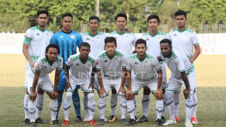 Tim Skuat Persiwa Wamena Copyright: © Ian Setiawan/Indosport.com