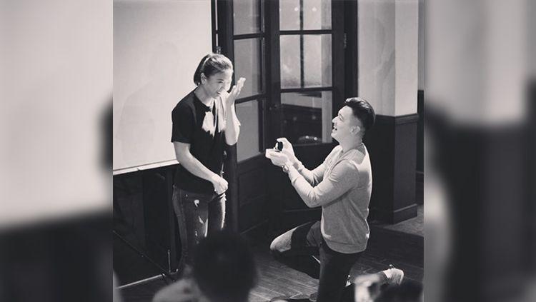 Greysia Polii dilamar oleh sang kekasih, Felix Djimin. Copyright: © Instagram@Felixdjimin