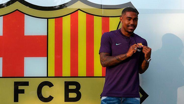 Malcom resmi diperkenalkan sebagai pemain baru Barcelona. Copyright: © INDOSPORT