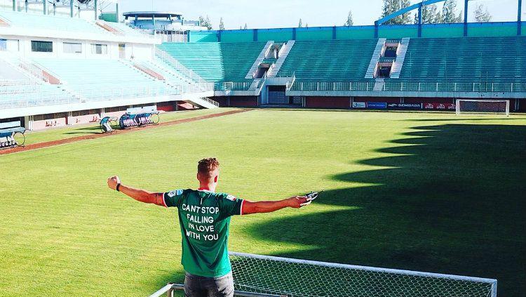 Mantan pemain asing PSS Sleman Kristian Adelmund. Copyright: © Twitter?@K_Adelmund