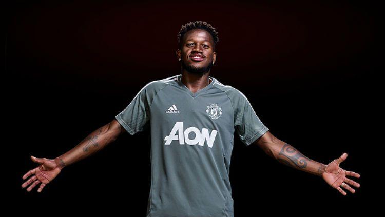 Fred saat resmi diperkenalkan Man United. Copyright: © Getty Images