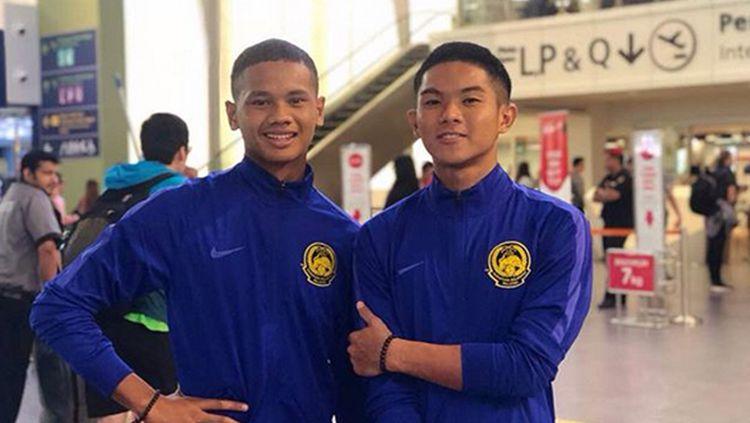 Pemain Malaysia U-16 Amirul Ashrafiq Hanifah (kiri) dijamin akan mendapatkan keselamatan saat bertandang ke Indonesia. Copyright: © SUMBER: INSTAGRAM/@AMIRULASH9