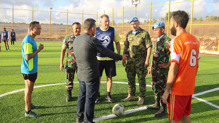 Dansatgas Indobatt Resmikan Sarana Olahraga Soccer di Lebanon Selatan Copyright: © Puspen TNI