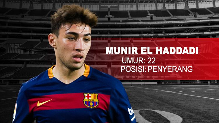 Barcelona vs AS Roma Munir El Haddadi. Copyright: © INDOSPORT