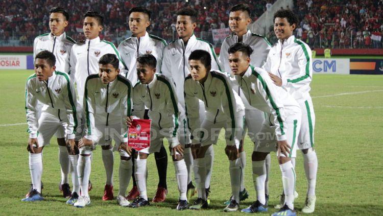 Skuat Timnas Indonesia U-16. Copyright: © Fitra Herdian/INDOSPORT