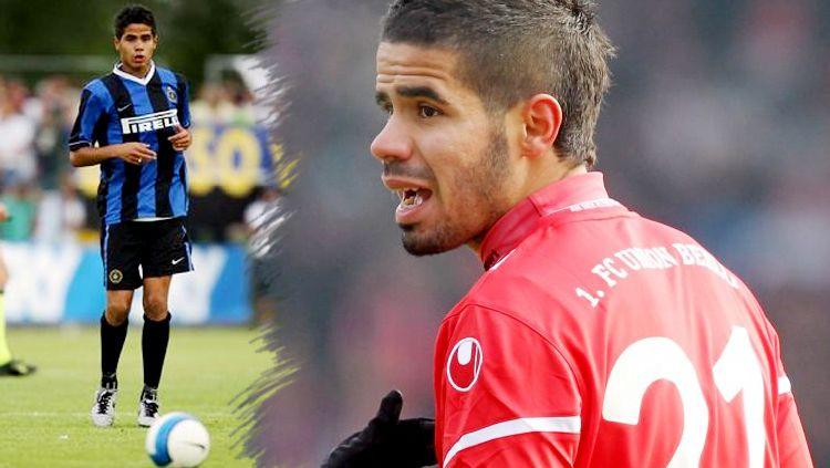 Tijani Belaid saat berseragam Inter Milan dan Club Africain. Copyright: © Getty Images
