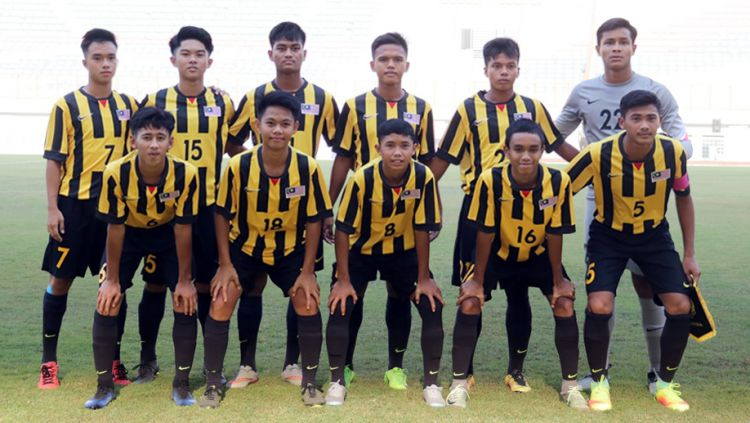 Timnas U-16 Malaysia. Copyright: © langitsatu.com