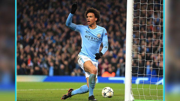 Leroy Sane, gelandang serang Manchester City. Copyright: © Sky Sports