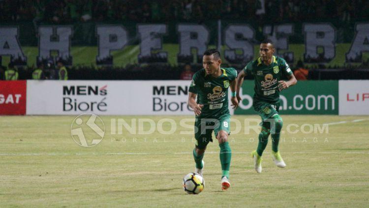 Oktafianus Fernando, winger Persebaya Surabaya. Copyright: © Fitra Herdian Ariestianto/INDOSPORT