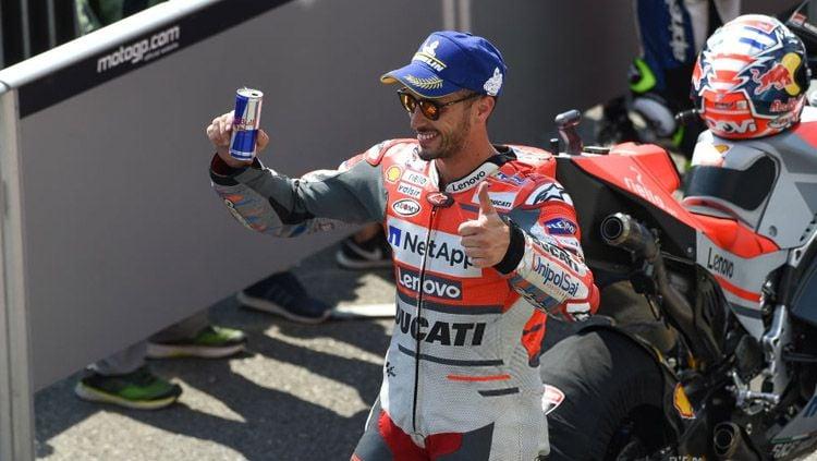Andrea Dovizioso percaya diri bisa kembali meraih hasil bagus di Inggris setelah mampu memenangi MotoGP Austria. Copyright: © Getty Images