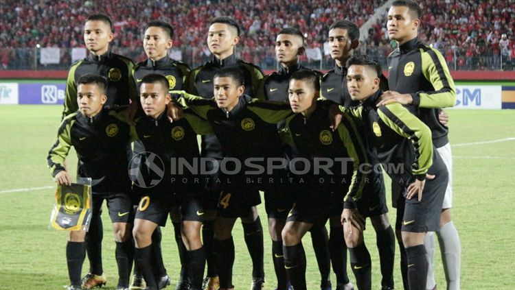 Skuat Malaysia U16. Copyright: © Fitra Herdian/Indosport