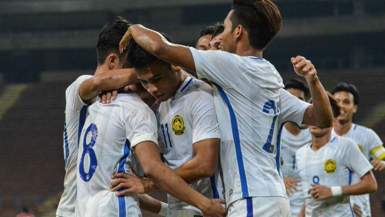Skuat Malaysia saat Menghadapi Korea Selatan. Copyright: © FA Malaysia