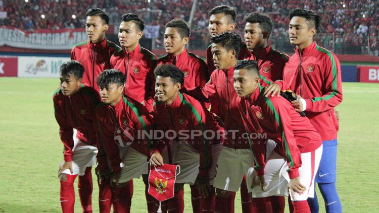 Skuat Timnas Indonesia U-16. Copyright: © Fitra Herdian/Indosport.com