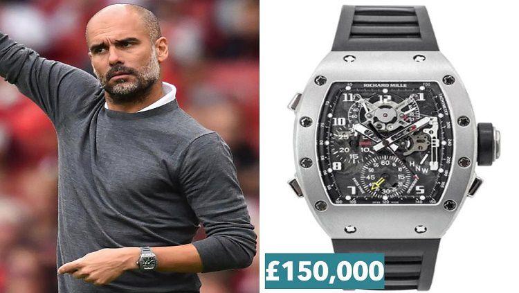 Pep Guardiola mengenakan jam mahal dengan harga selangit Copyright: © The Sun