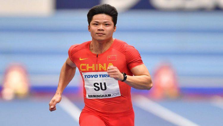 Su Bingtian, atlet lari dari China. Copyright: © dyestat