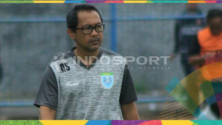 Pelatih Persela Lamongan, Aji Santoso. Copyright: © Ian Setiawan/INDOSPORT