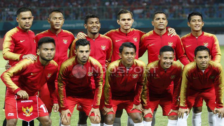 Starting Eleven Timnas Indonesia U-23 kala bersua Laos U-23. Copyright: © Herry Ibrahim/INDOSPORT