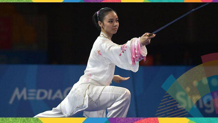 Atlet wushu Indonesia di Asian Games 2018, Lindswell Kwok. Copyright: © Antara