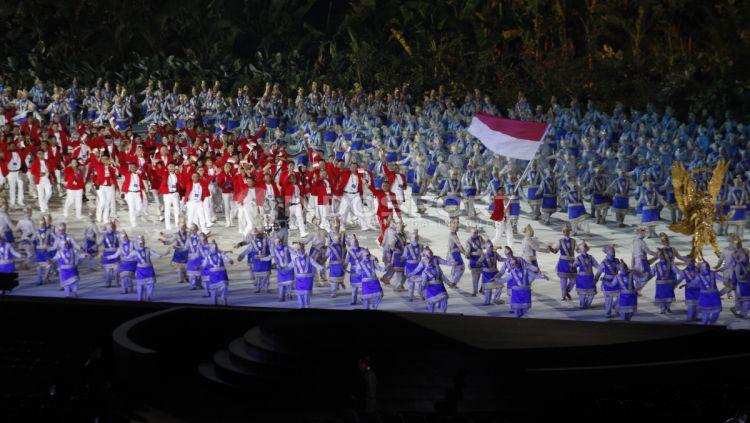 Kemeriahan Opening Ceremony Asian Games 2018. Copyright: © INDOSPORT/Herry Ibrahim