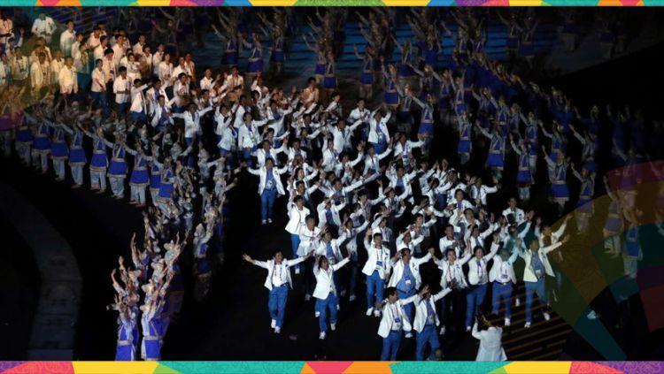 Upacara pembukaan Asian Games 2018 menjadi saksi banyak pasang mata dunia dari momen bersejarah bersatunya Korea Selatan dan Korea Utara. Copyright: © kpopchart.net