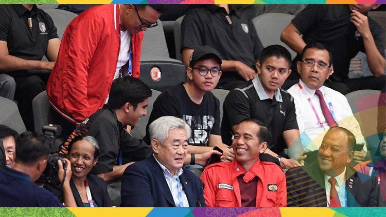 Kebersamaan Imam Nahrawi, Jokowi dan Menpora Malaysia Syed Siddiq. Copyright: © twitter/@SyedSiddiq