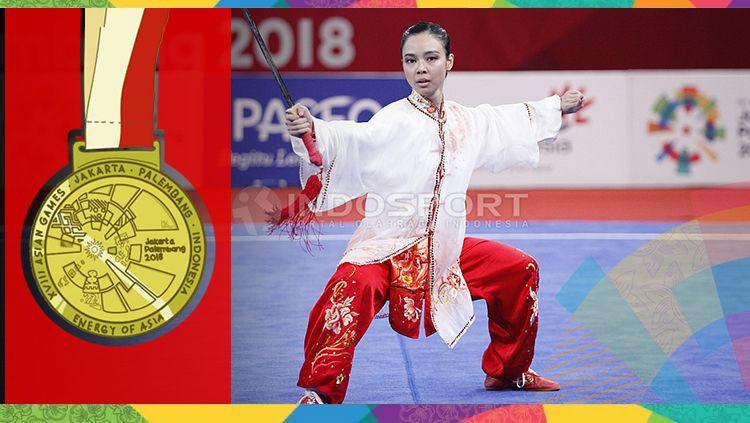 Lindswell Kwok sabet medali emas di Asian Games 2018. Copyright: © INDOSPORT/Herry Ibrahim