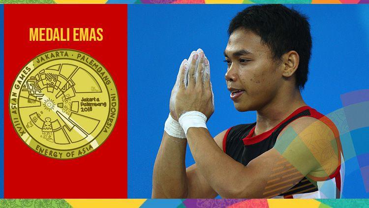 Eko Yuli berhasil sabet medali emas di Asian Games 2018. Copyright: © INDOSPORT