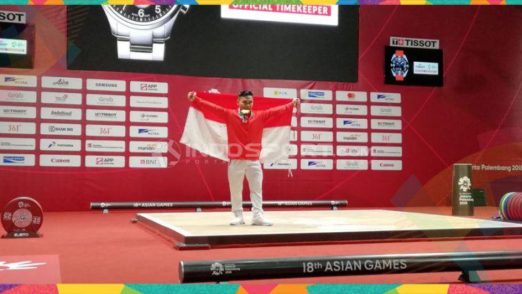 Eko Yuli berhasil sabet medali emas di Asian Games 2018. Copyright: © Abdul Aziz/Indosport.com