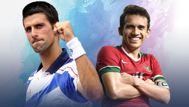 Novak Djokovic vs Egy Maulana Vikri Copyright: © Indosport.com