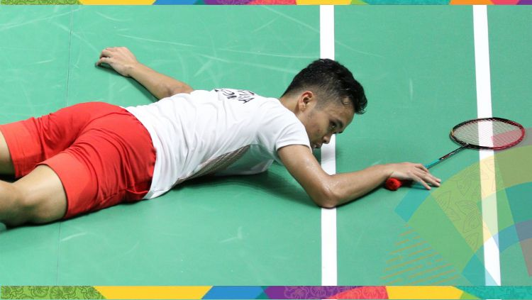 Anthony Sinisuka Ginting di Asian Games 2018. Copyright: © Humas PBSI