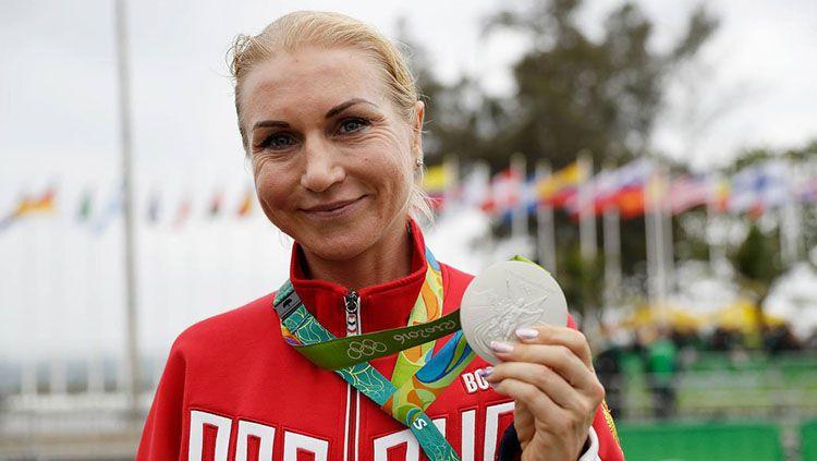 Olga Zabelinskaya, Atlet balap sepeda Uzbekistan asal Rusia yang gagal tampil di Asian Games 2018 Copyright: © Twitter/RSA