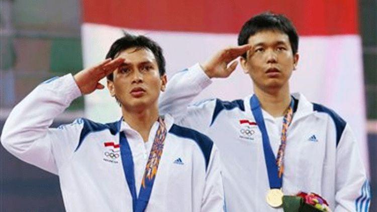 Hendra Setiawan/Mohammad Ahsan di Asian Games 2014. Copyright: © Badminton Planet