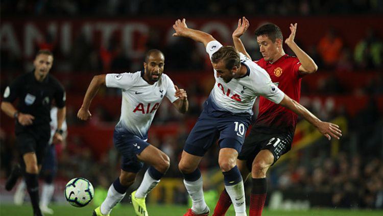 Pertandingan Liga Primer Inggris: Manchester United vs Tottenham Hotspur. Copyright: © Getty Images
