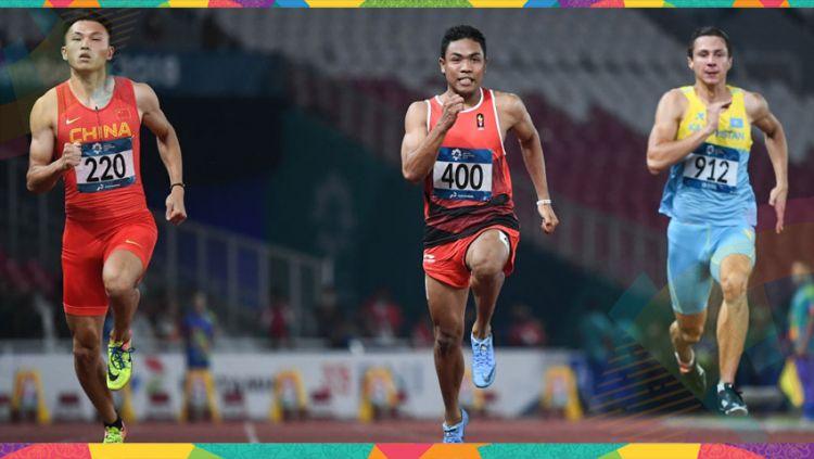 Lalu Muhammad Zohri akan menjadi wakil Indonesia dalam Asian Games 2018 cabor lari estafet. Copyright: © Indosport.com