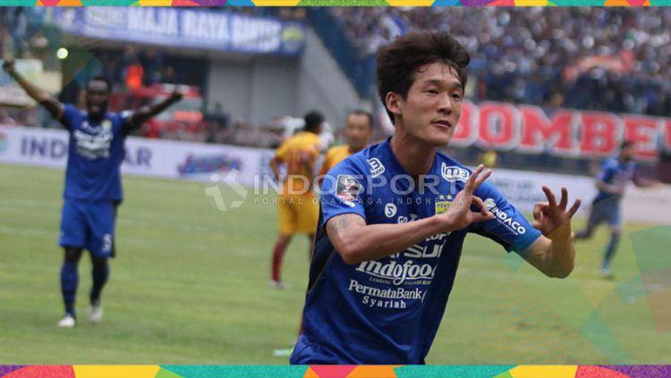Oh In-kyun, mantan pemain Persib yang kini berseragam klub Liga 1 lainnya, Arema FC. Copyright: © Herry Ibrahim/Indosport.com