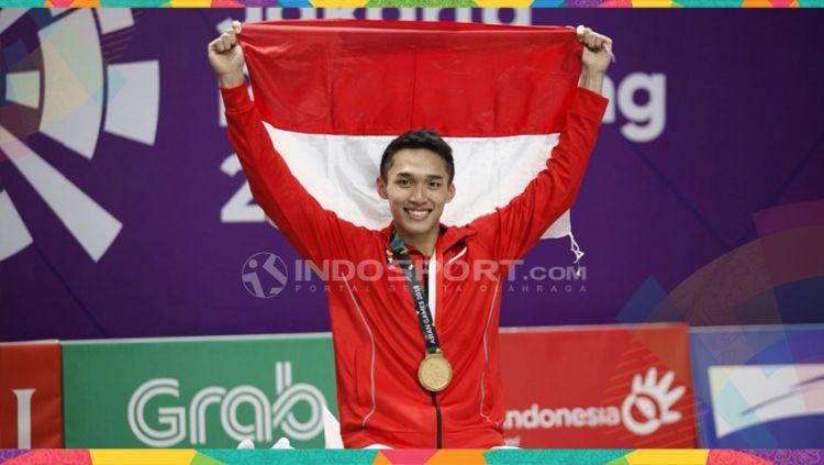 Jonatan Christie pebulutangkis Indonesia. Copyright: © Herry Ibrahim/Indosport.com