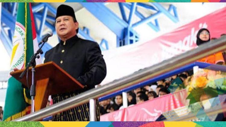 Prabowo Subianto saat berpidato. Copyright: © Istimewa