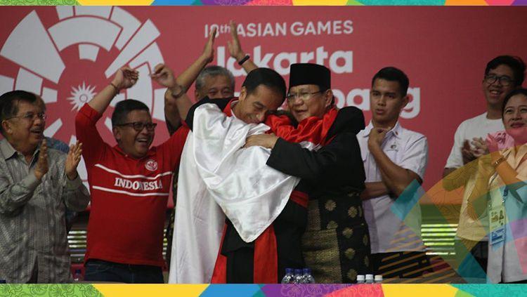 Calon menteri era Jokowi, Prabowo Subianto merupakan Ketua Umum Pengurus Besar Ikatan Pencak Silat Indonesia (IPSI). Copyright: © INASGOC