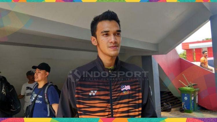 Atlet sepak takraw Malaysia, Muhammad Syahir. Copyright: © Lanjat Wiratri/Indosport.com