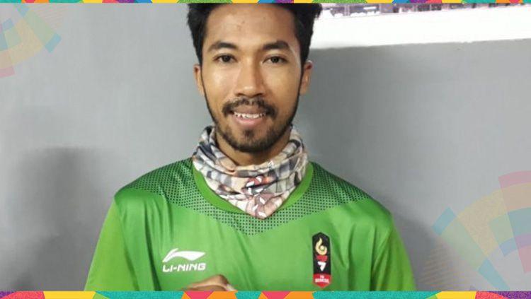 Pemain sepaktakraw Indonesia yang meraih medali emas Asian Games 2018, Saiful Rijal. Copyright: © http://sumsel.tribunnews.com