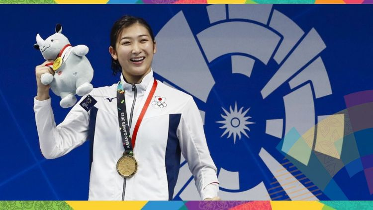 Atlet Renang asal Jepang yang baru berusia 18 tahun, Rikako Ikee. Copyright: © kyodonews.net