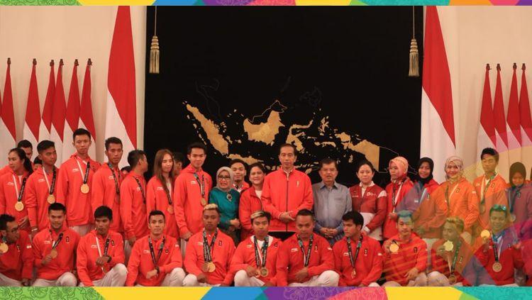 Pemberian bonus atlet berprestasi peraih medali Asian Games 2018 di Istana Negara Jakarta. Copyright: © Twitter.com/Imam Nahrawi