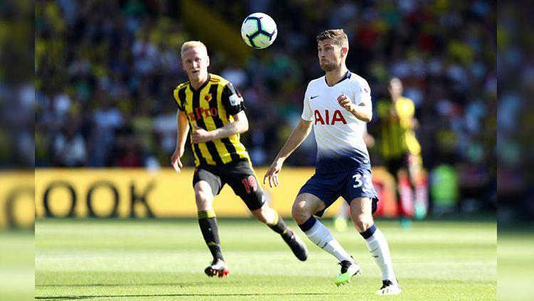 Ben Davies saat laga Watford vs Tottenham Hotspur di Liga Primer Inggris. Copyright: © Getty Images