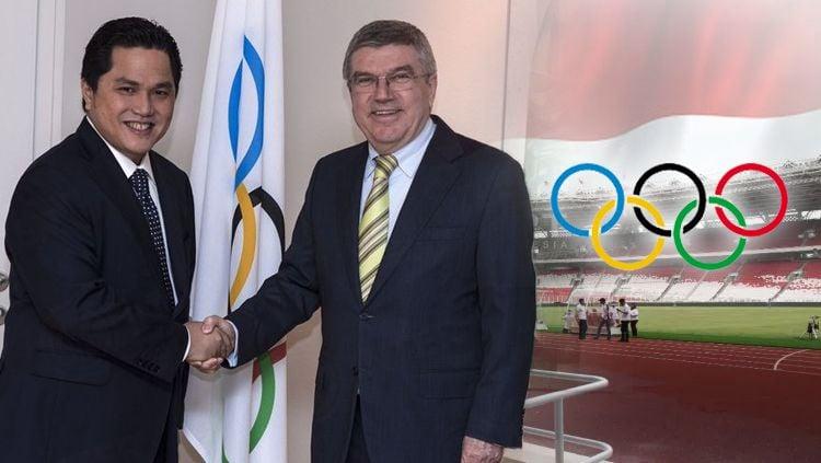 Erick Thohir, selaku Ketua Komite Olimpiade Indonesia (KOI), mengatakan bahwa dirinya telah mendapatkan surat dari International Olympic Committee (IOC) perihal Indonesia menjadi tuan rumah Olimpiade. Copyright: © Getty Images