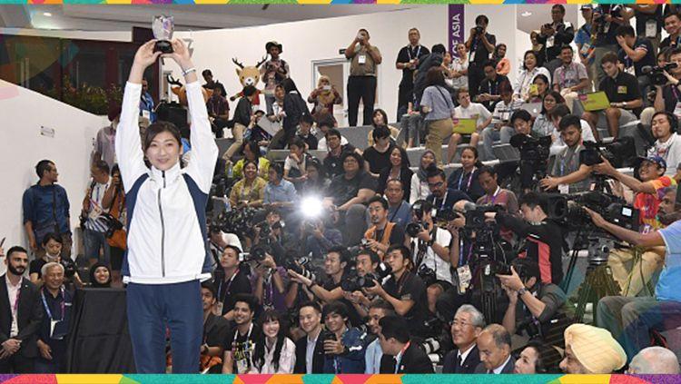 Rikako Ikee menjadi pemain terbaik atau MVP Asian Games 2018. Copyright: © Getty Images