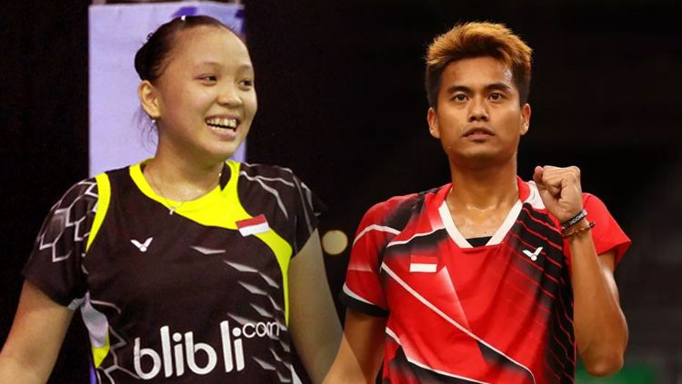 Winny Oktavina Kandow dan Tontowi Ahmad. Copyright: © Getty Images